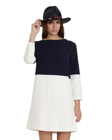 Apiece Apart Tee Dress in Navy and White