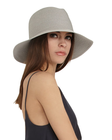 Ryan Roche Crushable Straw Hat | Alabaster
