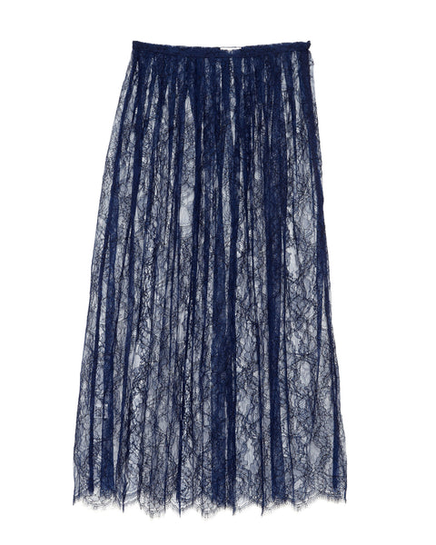 Ryan Roche | French Lace Skirt in Navy