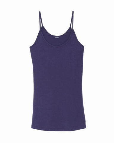 LAmade Deep Scoop Tank Top in Inkblot Blue