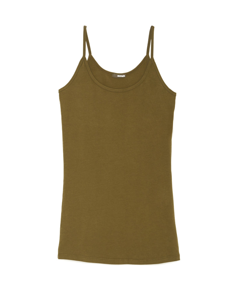 7bab07b8339436 LAmade Deep Scoop Cami in Military Green