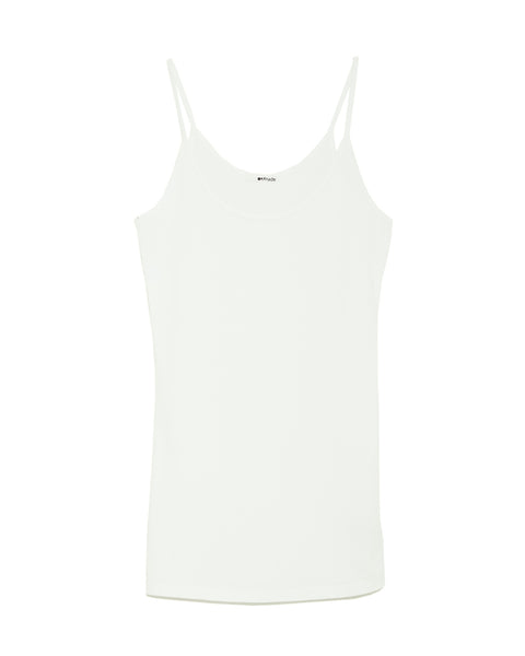 Deep Scoop Cami Top in white by Lamade