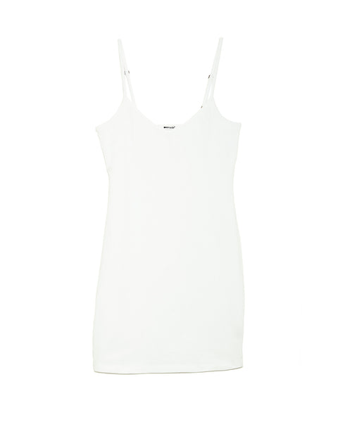 LAmade V Neck Slip Dress in White