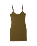LAmade V Neck Slip Dress | Military Green
