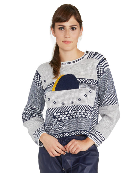 Rachel Comey | Eclipse Sweater in jacquard cotton and alpaca