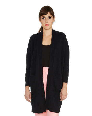 Ryan Roche | Long Cashmere Cardigan in Black