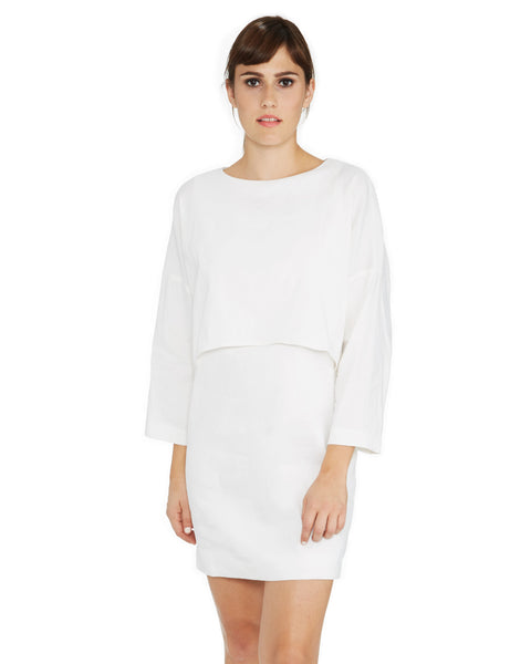 Apiece Apart Bi-Level Navona Dress in White