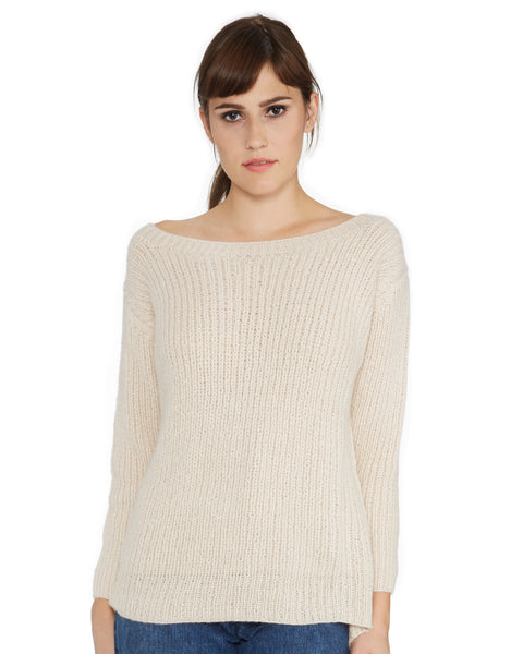 Ryan Roche | Cashmere Crewneck Sweater in Champagne