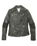Brogden Italian Leather Moto Jacket in British Green | SAANS.COM