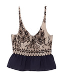 French Lace Top in Navy and Black by Rachel Comey