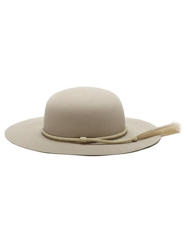Ryan Roche | Wide Brim Angora Hat in White