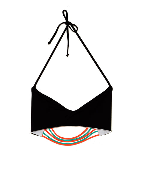 Basta Surf Zunzai Bungee Bikini Top | Reversible in Black & White