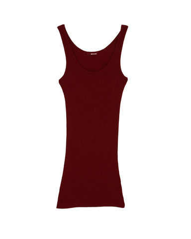 Double U Ribbed Knit Tank Top in Red by LAmade