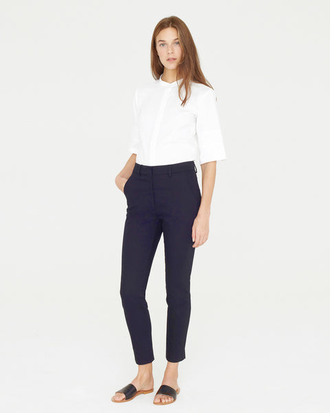 Apiece Apart Camilla High Waisted Pant | Navy Blue