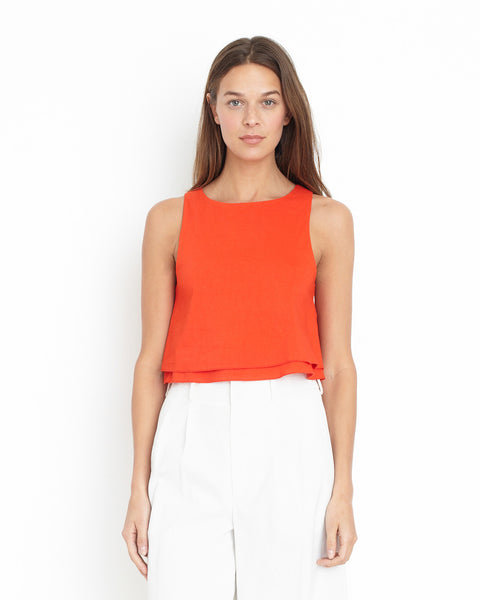Apiece Apart Agnes Bi-Level Top | Santorini Red
