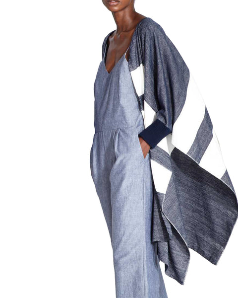Apiece Apart Chios Jumpsuit In Chambray