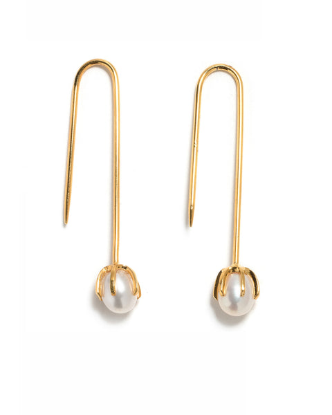 Lizzie Fortunato Eclipse Pearl Earrings | White