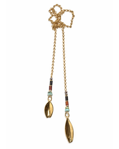Lizzie Fortunato Argon Lariat Necklace