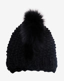 Gigi Burris Millinery | Fox Mohawk Beanie in Black