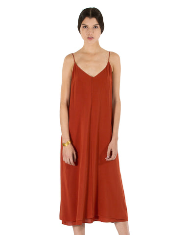 VOZ | Double Layer Cami Dress | Desert Apricot