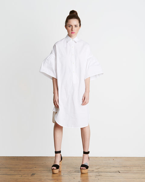 TOME Freedom For All Cotton Poplin Shirt Dress | Made in NY