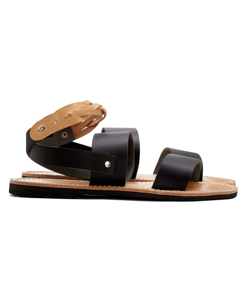 Isapera Sandals | Fokos in Black
