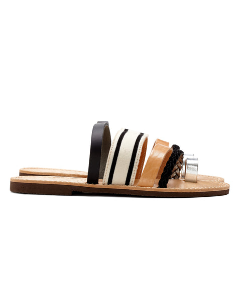 Isapera Sandals | Gerbera in Stripe