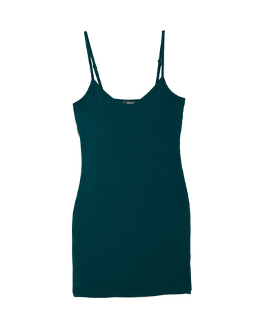 LAmade V Neck Slip Dress in Kelp