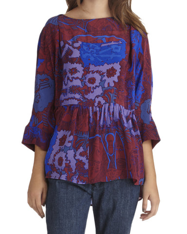 Rachel Comey Reunion Silk Top | Crimson