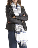 Lemlem Rucha Beehive Scarf in Navy