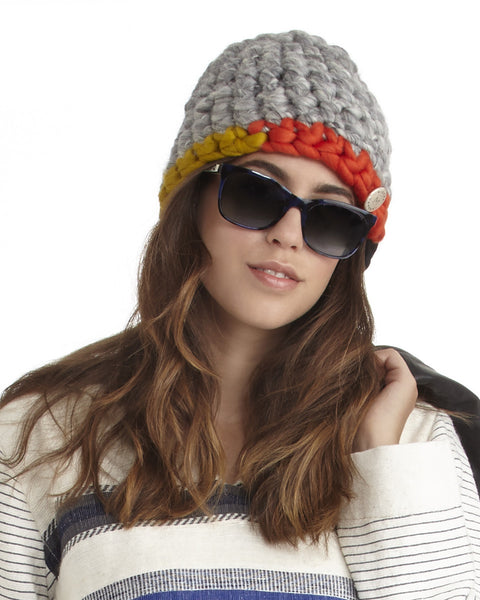 Mischa Lampert Merino Wool Beanie in Grey