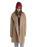 Fleurette Wool Coat in Camel