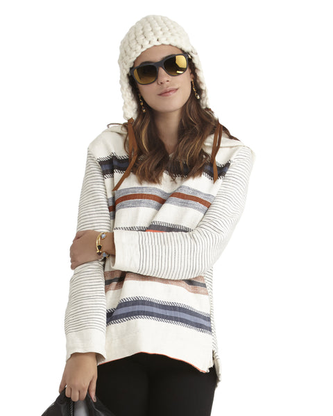 Mischa Lampert Merino Wool Beanie with Straps | White