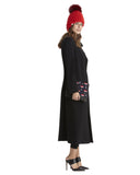 Fleurette Soft Wool Coat in Black | Made in USA