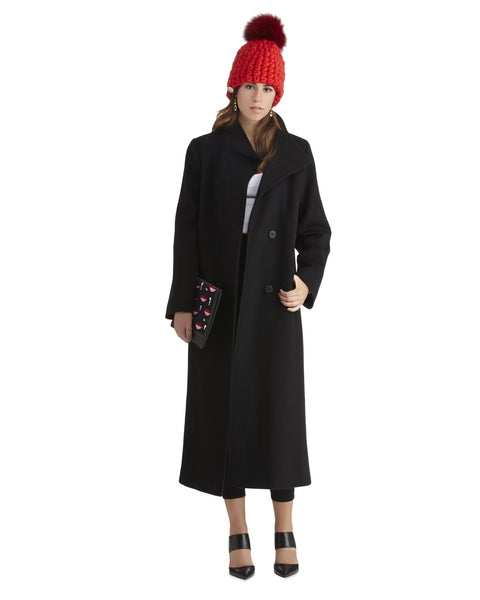 Fleurette Soft Italian Wool Coat | Black