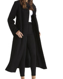 Fleurette Soft Wool Coat | Black