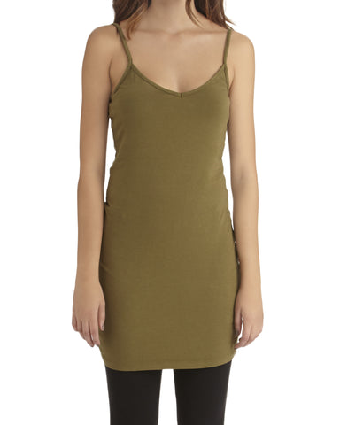 LAmade V Neck Slip Dress in Green