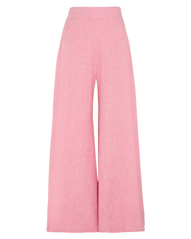 PAPER London | Wide Leg Kelly Trousers in Pink Melange