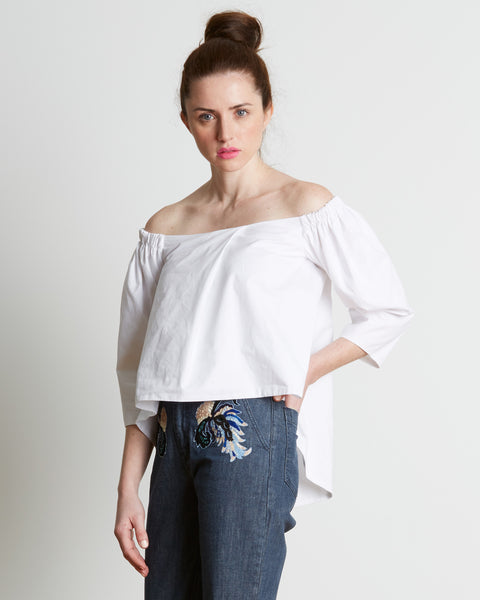 Paper London | Off-the-shoulder Katia Top in White