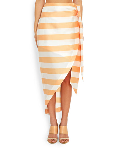 PAPER London | Bonpoint Skirt in Cantaloupe Stripe