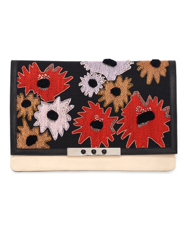 Lizzie Fortunato Port of Call Clutch | Red Crush Poppy
