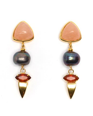 Lizzie Fortunato Oyster Pearl II Earrings | Gold