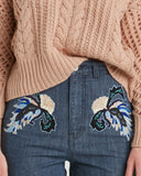Rachel Comey Slim Bishop Pant | embroidery detail view