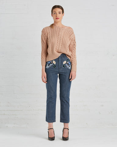 Rachel Comey Slim Bishop Pant in Ash Denim