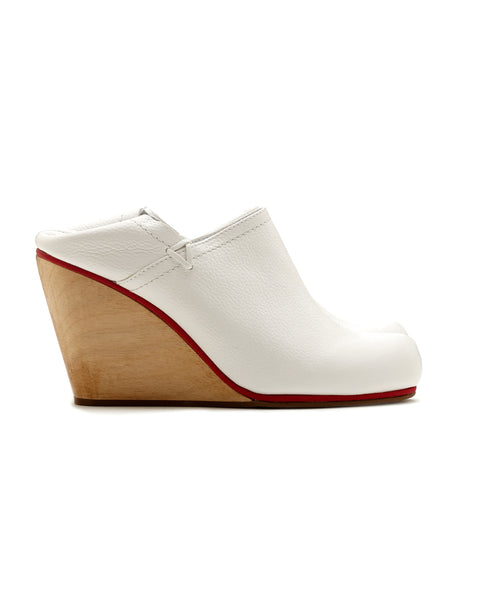 Rachel Comey | Casablanca Mule Clog in White Leather