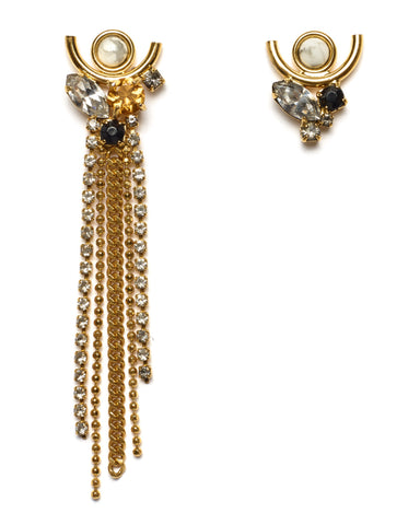 Lizzie Fortunato Te Amo Earrings | Gold