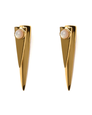 Lizzie Fortunato Pyramid Pearl Earrings