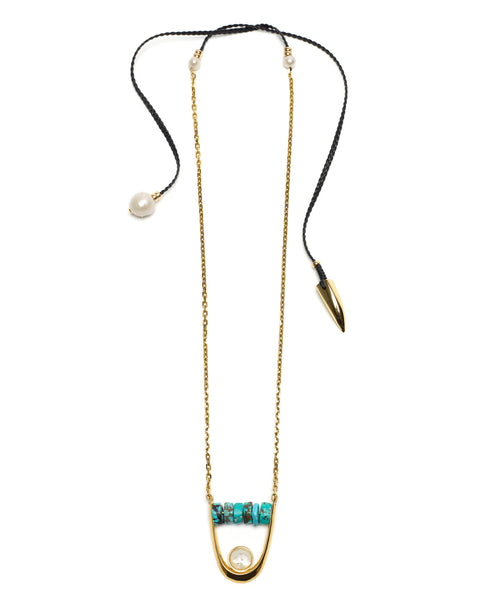 Lizzie Fortunato Roma Pendant Necklace