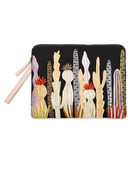 Lizzie Fortunato Safari Clutch in Prickly Pear