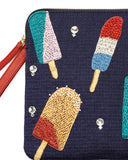 Lizzie Fortunato Safari Clutch in Ice Pop | detail view